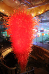 Large Red Crystal Chandelier