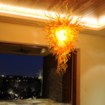 Amber Crystal Chandelier